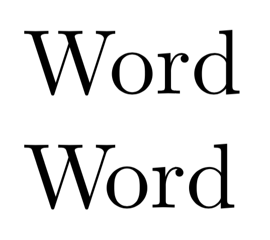 Example of extra kerning between the letters W and o